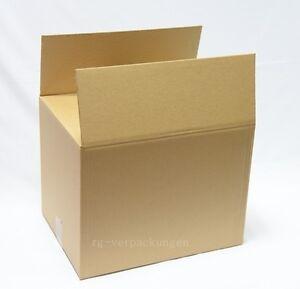 20x Faltkarton Karton 400 x 300 x 300 Faltschachtel Verpackungen Versand C Welle