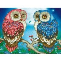 5D Diamond Painting Full Drill Cross Stitch Embroidery Kits Double Owls Home