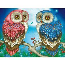 5D Diy Diamond Painting Mosaic Full Drill Cross Stitch Kits Double Owls Decors
