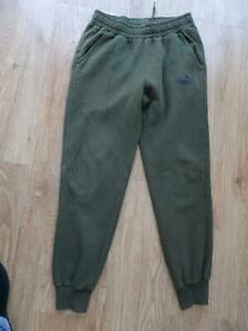 PUMA mens green tracksuit trousers joggers MEDIUM EXCELLENT COND