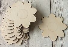 set of 10 laser cut wooden flower daisy for garland bunting unpainted