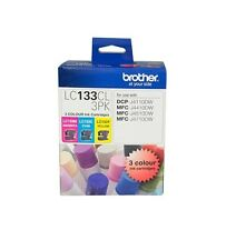 Brother Genuine LC-133CL3PK C/M/Y 3 Inks Color Pack For J152W J6720DW J470DW