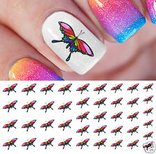 Rainbow Butterfly Nail Art Waterslide Decals - Salon Quality!