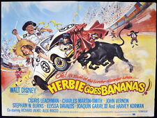 HERBIE GOES BANANAS 1980 Charles Martin Smith, Cloris Leachman UK QUAD POSTER