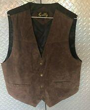 Mens SCULLY Leather Vest  Size L  ~ Western Cowboy Sleeveless Jacket
