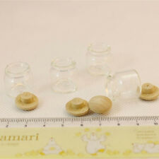 1:12 Scale Dollhouse 4Pcs Miniature Candy Bar Food Jar Kitchen Decoration Rw