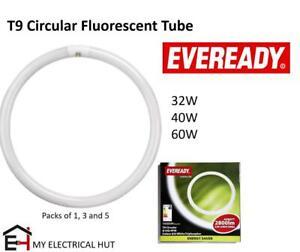 T9 Circular Energy Saving Fluorescent Tube 32W 40W 60W G10Q 4PIN 3500K Eveready