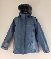 BERGHAUS AQUAFOIL Women's Light Blue 3 IN 1 Waterproof Hooded jacket. Size UK 8