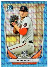 LUCAS GIOLITO - 2014 BOWMAN CHROME DRAFT TOP PROSPECTS BLUE WAVE REFRACTOR RC