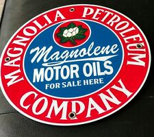 Magnolia Magnolene Gas Oil gasoline sign . Free shipping on any 8 signs