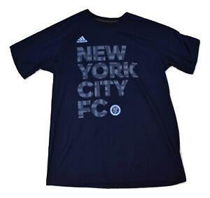 adidas Mens MLS NYCFC New York City FC Football Club Ultimate Tee Shirt New L