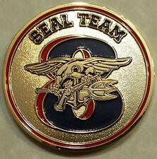 Naval Special Warfare Seal Team 8, 2 Troop Odin Ravens Navy Challenge Coin Eight