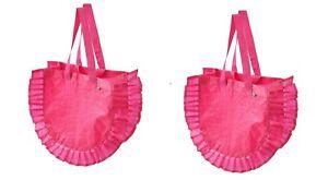Brand New IKEA KARISMATISK Shopping Bag Medium Pink7 Gallon Laundry Pack of 2