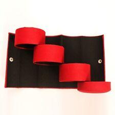 Women's Fashion 3-layer Red Cylinder Jewelry Gift Organizer Holder Display Box
