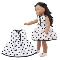 Cute Doll Dress Clothes Outfits Polka Dot Doll Dress for 18 inch American Doll