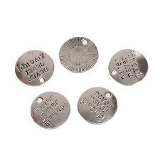 Tibetan  Round Silver  Charms fit bracelets and pendants 10pcs  20*20mm