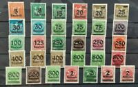 Germany 1923 - Inflation Surcharge -  31 MH stamps
