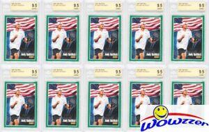 (10) 2001 Netpro #1 Andy Roddick ROOKIE BGS 9.5 GEM MINT Tennis Hall of Famer!