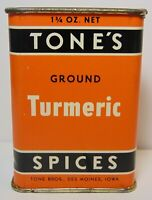 New Old Vintage 1950s TONES TIN LITHO SPICE TIN TONE BROTHERS DES MOINES IOWA IA