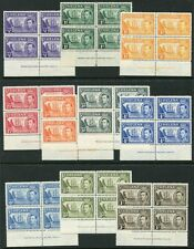 St Helena 1938-44 ½d-1s SG 131-137 ex 135 in B4 unmounted mint (cat. £104)