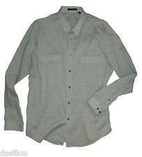 NWT $235 THEORY LONG SLEEVE 2 FRONT PATCH POCKETS BUTTON-DOWN SHIRT Size XXL