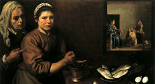 """Art Oil painting Diego Velazquez - Christ in the House of Mary and Marthe 36"""""""