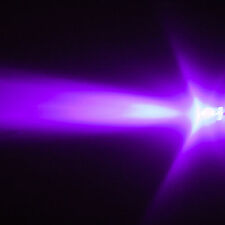 20 LEDs 5mm UV violeta 3000mcd LED luz negra + resistencias para PC auto muebles