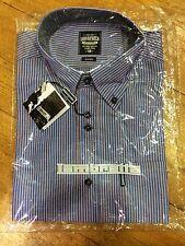 Lambretta Blue/Peach Striped Shirt - Small