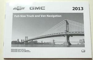 GM 2013 Full Size Truck Navigation Manual #22950588A
