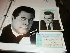 #7911, Mario & Victor Lanza Signed Photo,Program,Ticket,Canton O Superb Group