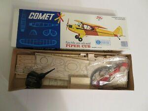 Comet Balsa Piper Cub Plane Model Kit in Box