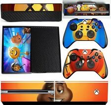 emoji movie xbox one skins decals stickers + kinect + 2 controllers