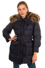 RRP €2290 PRADA Down Quilted Coat Size 40 / S-M Belted Detachable Fox Fur Trim
