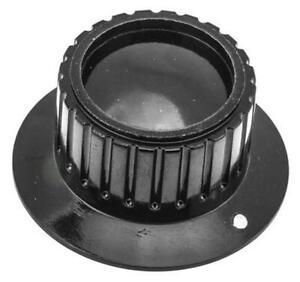 RS Pro Potentiometer Skirted Knob, Body: Black, Dia. 41.9mm, 6.35mm Shaft