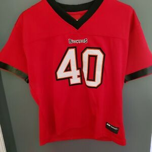 NFL Football Tampa Bay Buccaneers Mike Alstott Jersey Youth L Large Stitched