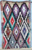 Vintage moroccan boucherouite rag rug 177 x 110cm