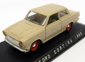 Eligor 1/43 Scale EL7 - 1102 1965 Ford Cortina MK1 Berline Beige / Red wheels