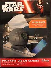 Disney Star Wars Estrella De La Muerte USB Cargador De Coche (sonidos animado) - Nuevo En Caja