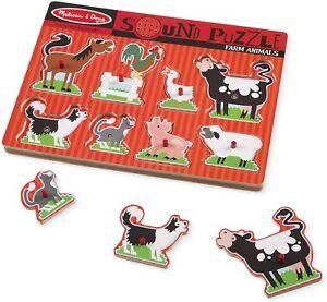 Melissa & Doug Farm Animals Sound Puzzle - New, Free Shipping