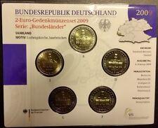 2009 5x2 € ADFGJ ALLEMAGNE - SARRE SAARLAND - BU blister scellé d'origine