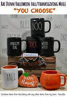 "Rae Dunn Mug Halloween Fall Thanksgiving BOO FALL Y'ALL ""YOU CHOOSE"" NEW '19-'20"