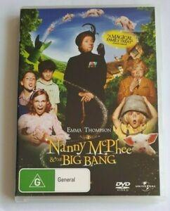 Nanny McPhee and the Big Bang Emma Thompson Kids PAL DVD R4 VGC