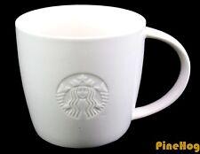 "Unique RARE Starbucks Coffee Tea Cup Mug 14 oz White 2010 Siren Logo ""T"""