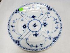 "Royal Copenhagen Blue Fluted Half Lace pattern Luncheon Plate #622 - 8-7/8"""