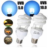 Reptile UV/UVB Spiral Compact  Terrarium Light 5.0 10.0 13W Glow Lamp