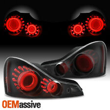 [GTR Style]Fit 2008-2015 G37 / Q60 Coupe 3D LED Tube Tail Lamp Blk Smoke Housing