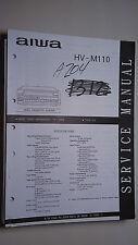 New listing Aiwa hv-m110 service manual original repair book vcr video tape player 129 pages