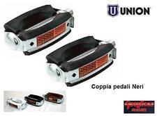 0230 - COPPIA PEDALI UNION SPORT/VINTAGE NERI PER BICI 20/24/26 BMX - FREESTYLE