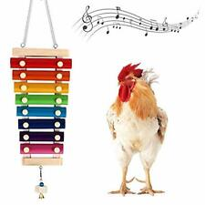 Monfina Chicken Xylophone Toy for Hens,Suspensible Chicken Toys with 8 Metal Key