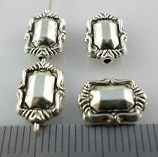16pcs Tibetan Silver Rectangle Smooth Spacer Beads Charms Jewelry 4x8x11mm